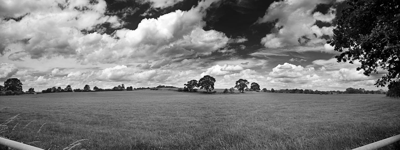Shropshire Panorama_b+w